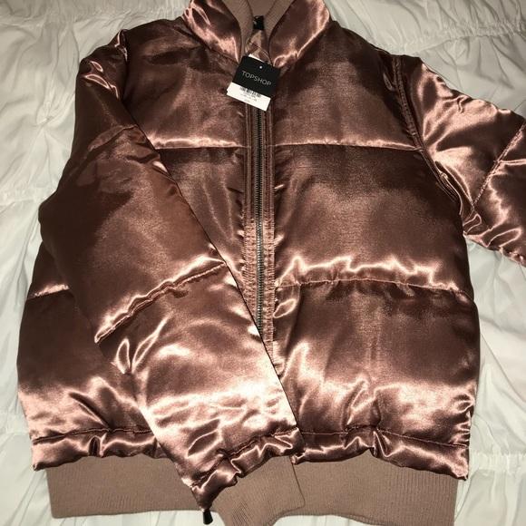 070063c5b Topshop Jackets & Coats | Rose Gold Puffer Jacket | Poshmark